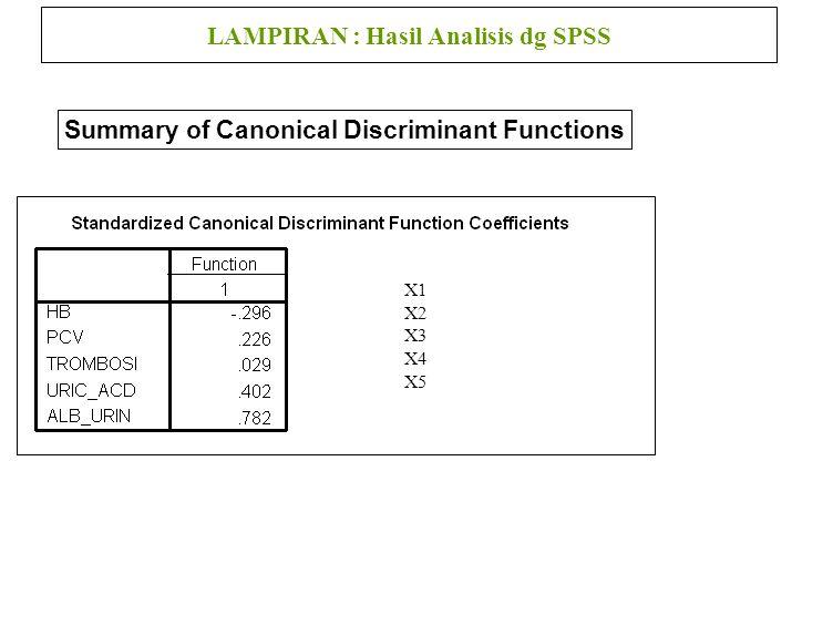 LAMPIRAN : Hasil Analisis dg SPSS