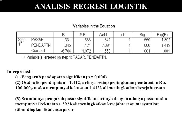 ANALISIS REGRESI LOGISTIK