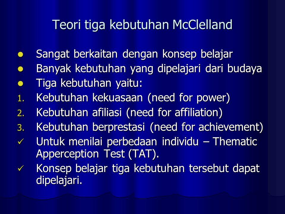 Teori tiga kebutuhan McClelland