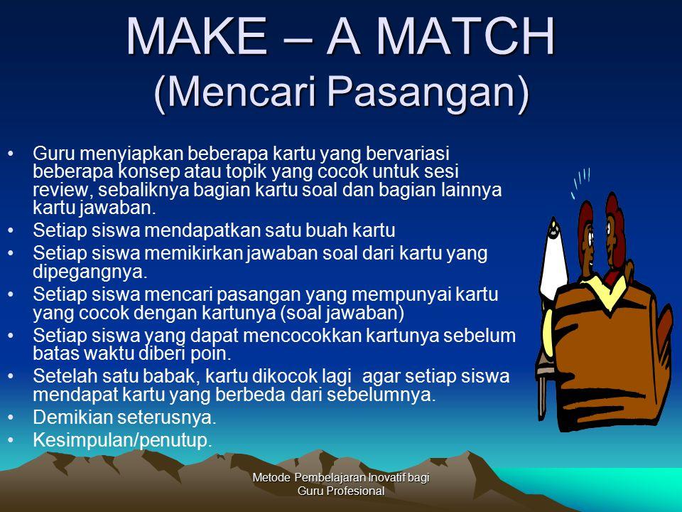 MAKE – A MATCH (Mencari Pasangan)