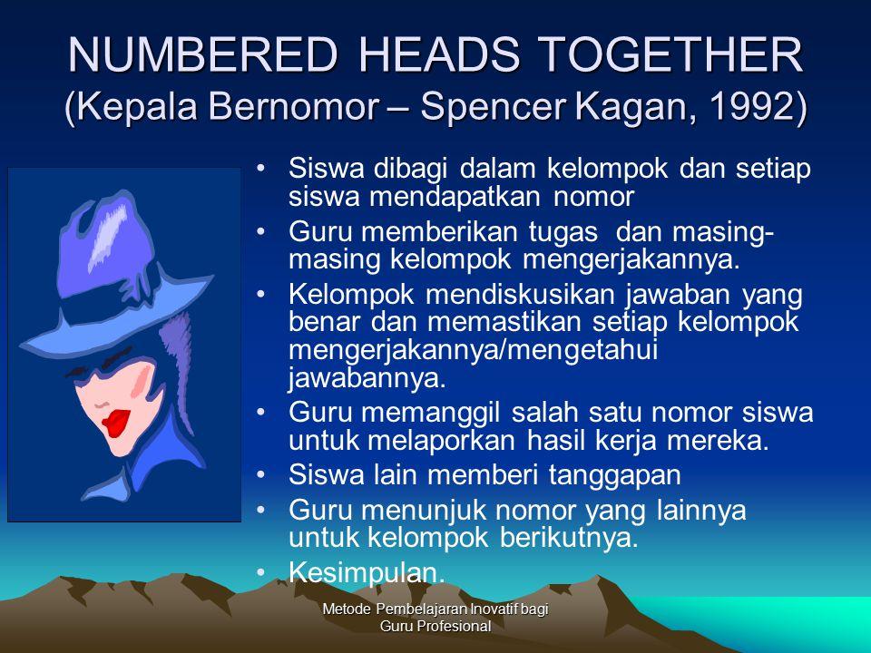 NUMBERED HEADS TOGETHER (Kepala Bernomor – Spencer Kagan, 1992)