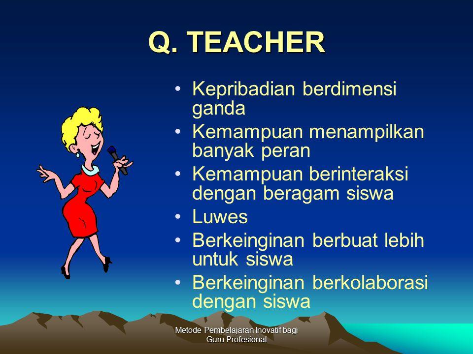Metode Pembelajaran Inovatif bagi Guru Profesional