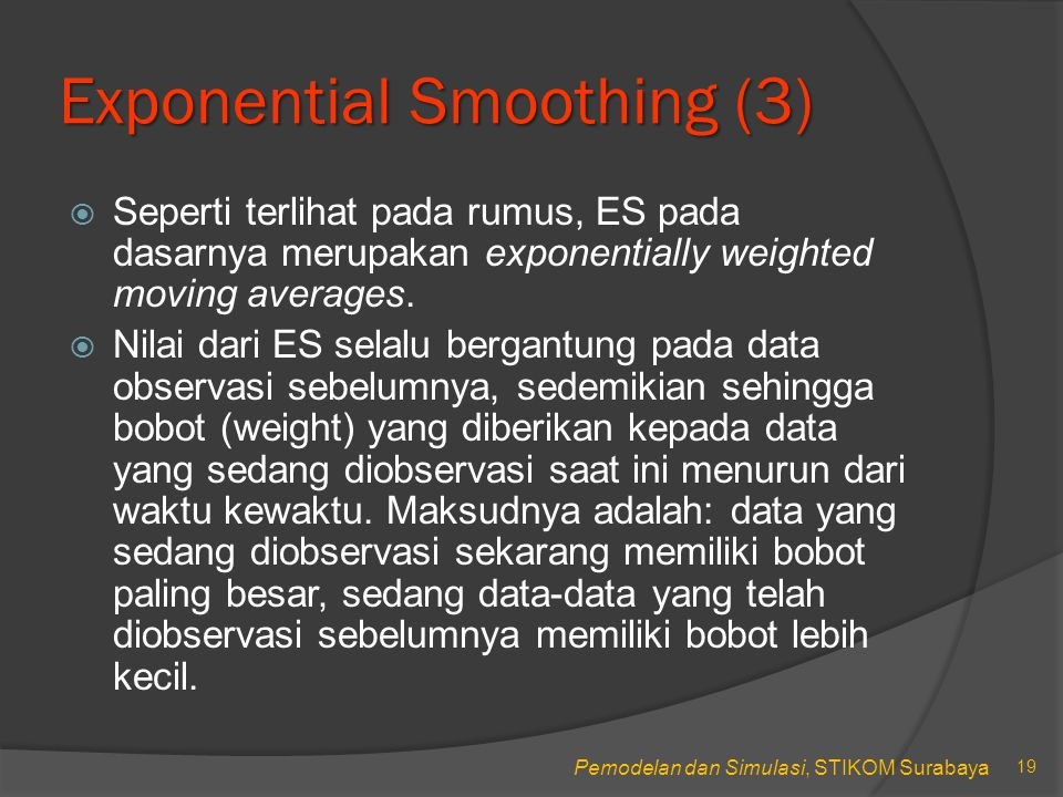 Exponential Smoothing (3)