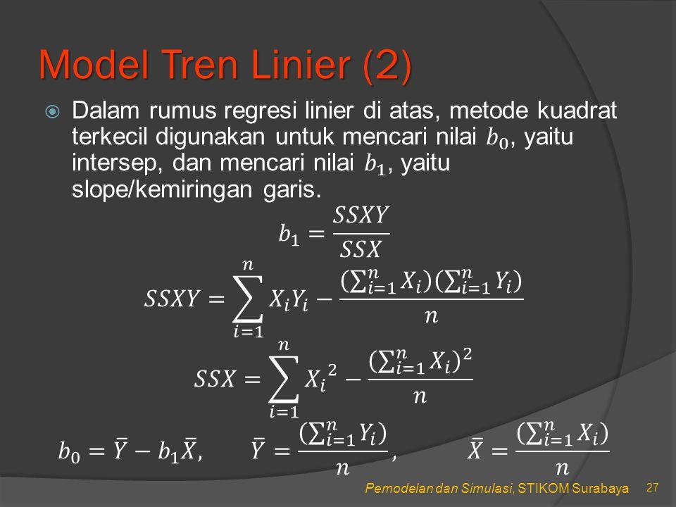 Model Tren Linier (2)