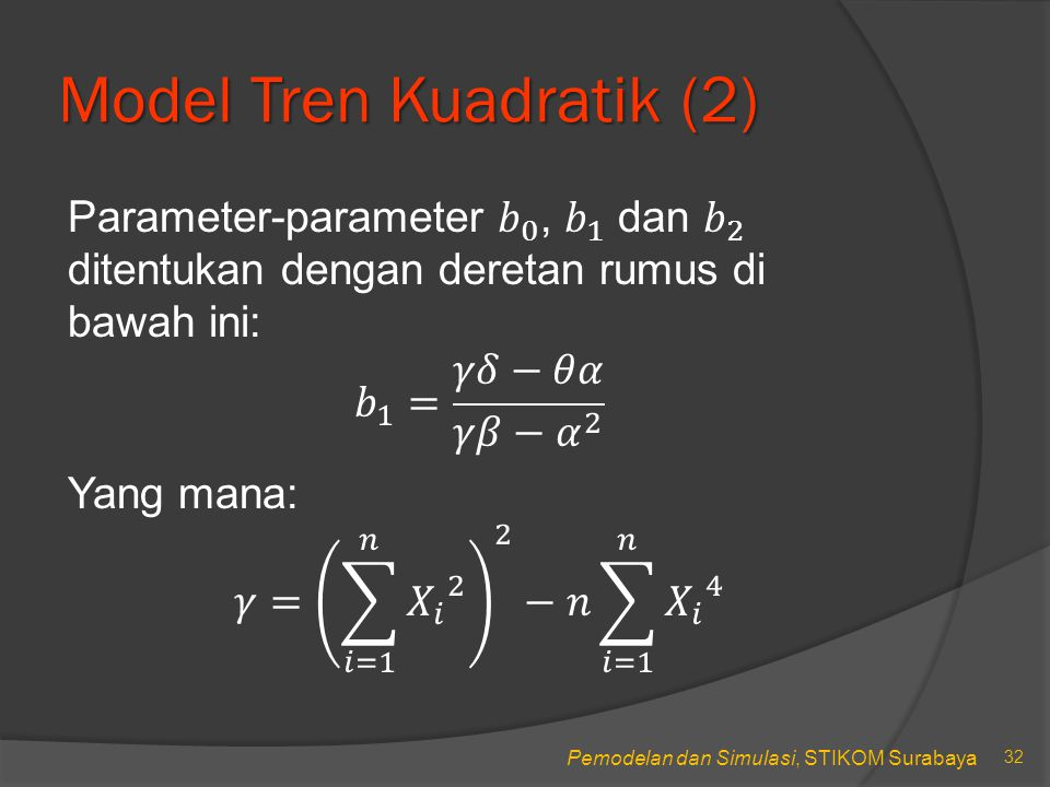 Model Tren Kuadratik (2)