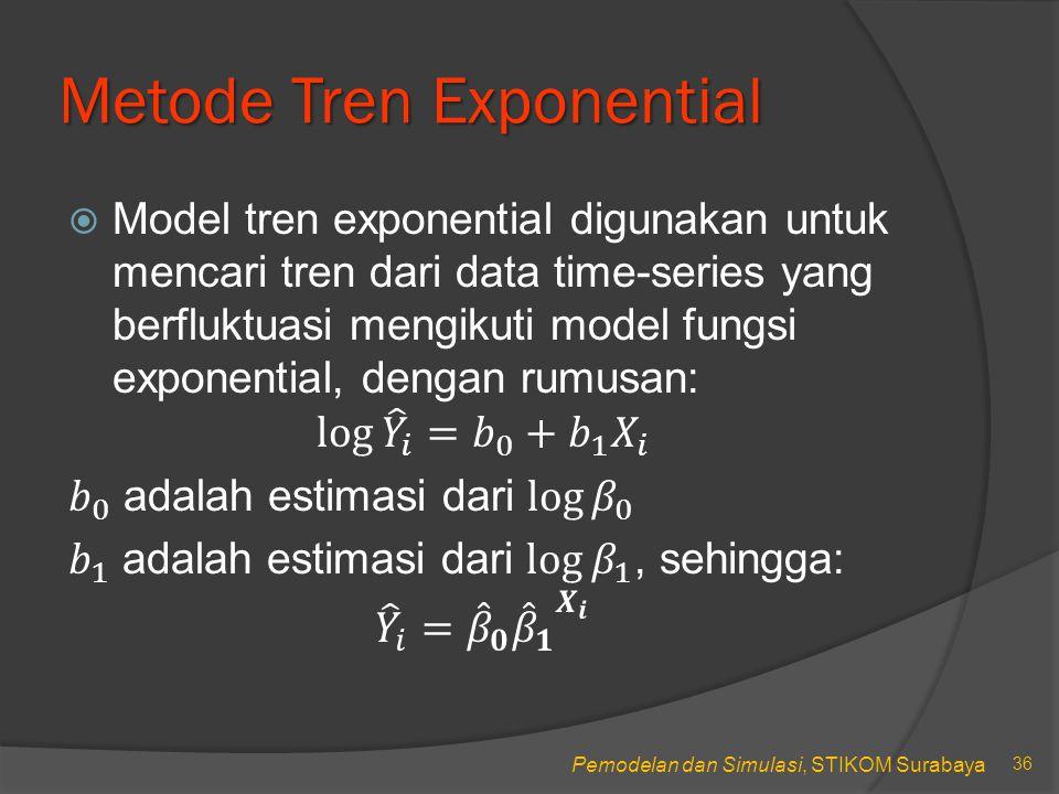 Metode Tren Exponential