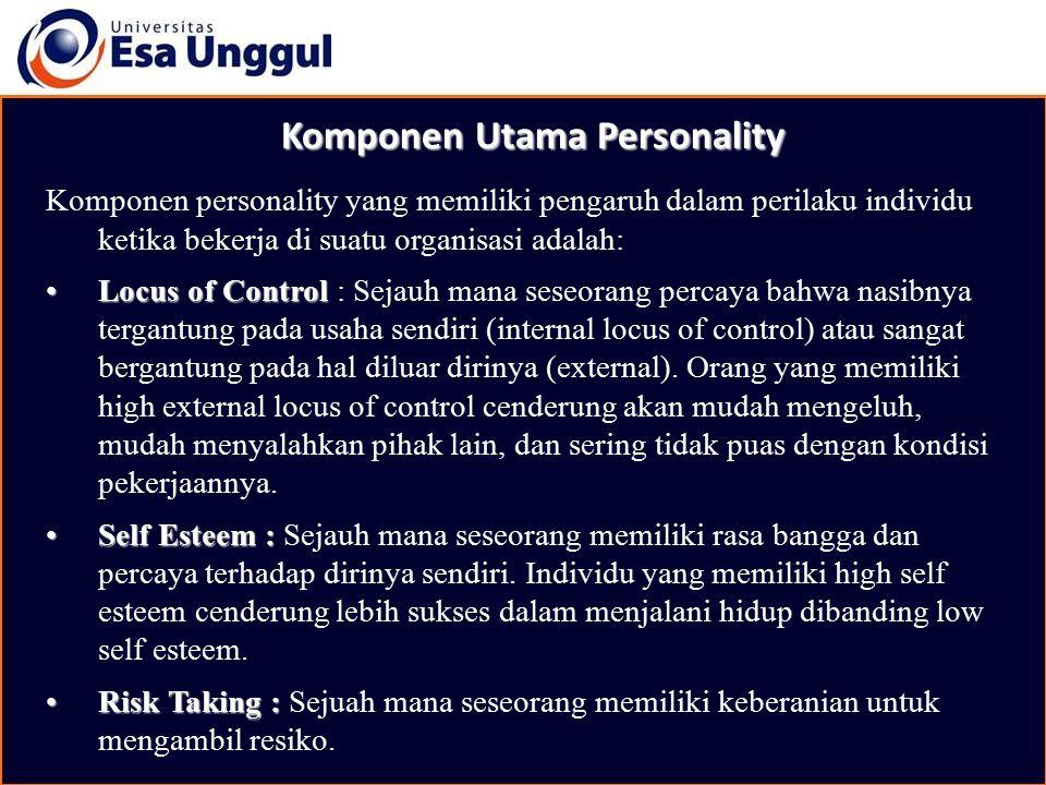 Komponen Utama Personality