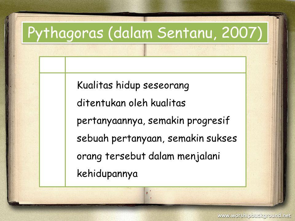 Pythagoras (dalam Sentanu, 2007)