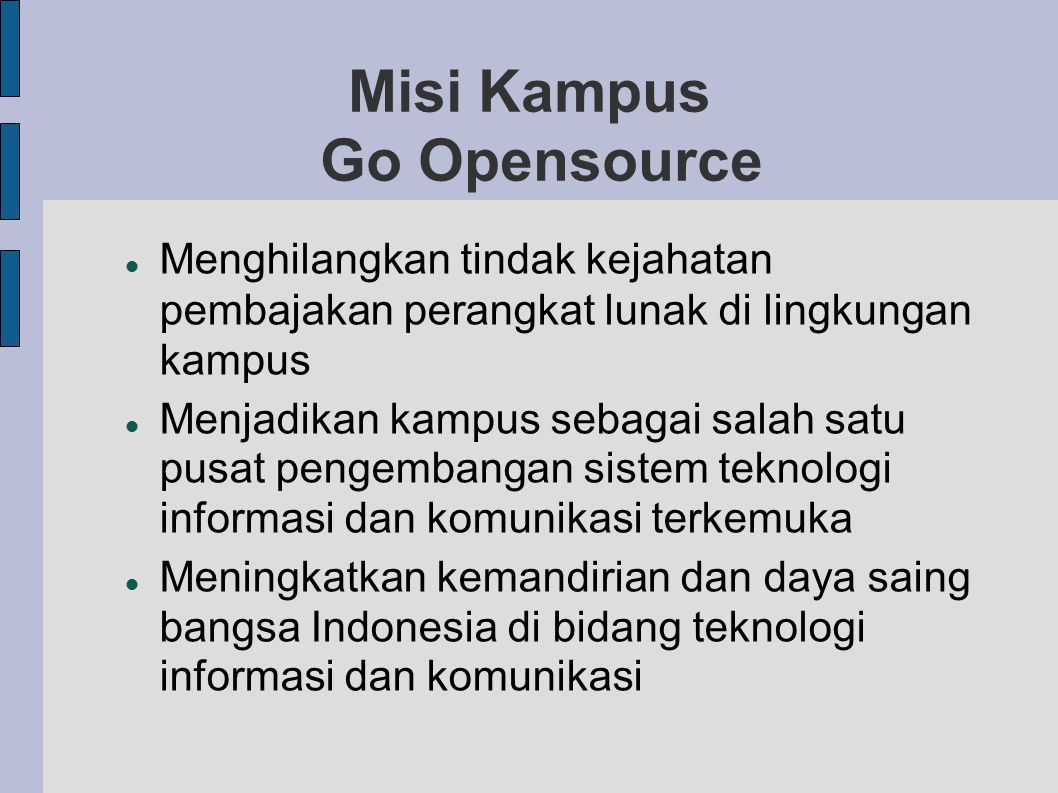 Misi Kampus Go Opensource