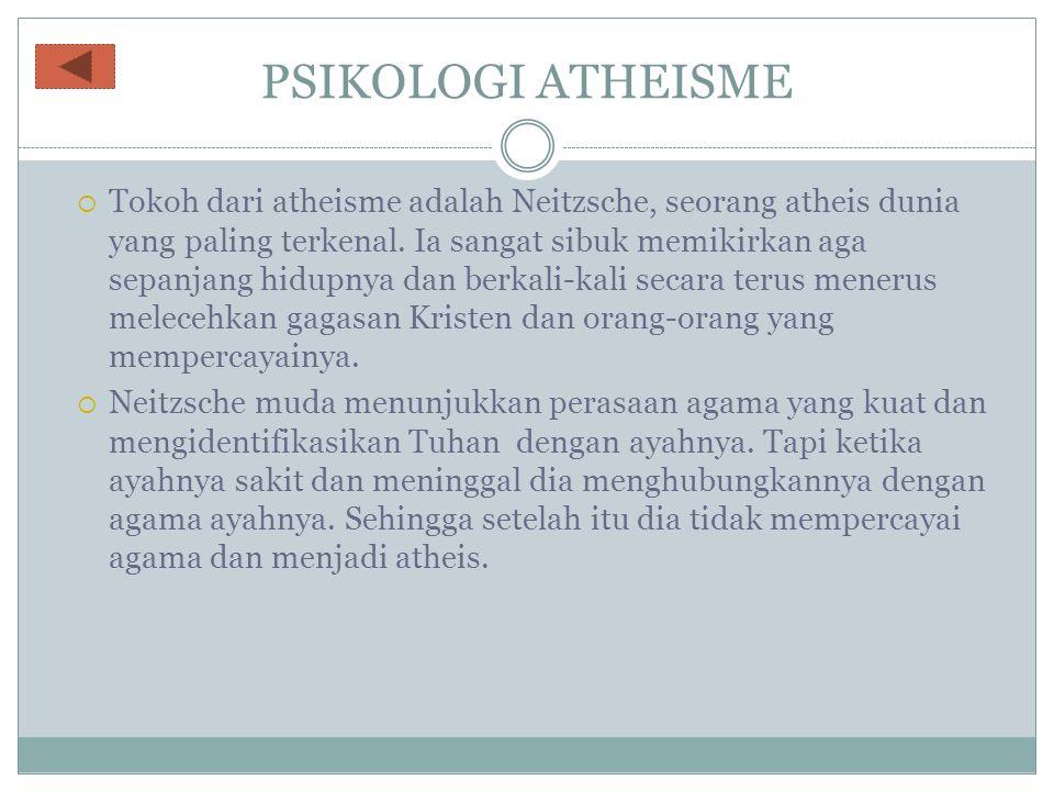 PSIKOLOGI ATHEISME