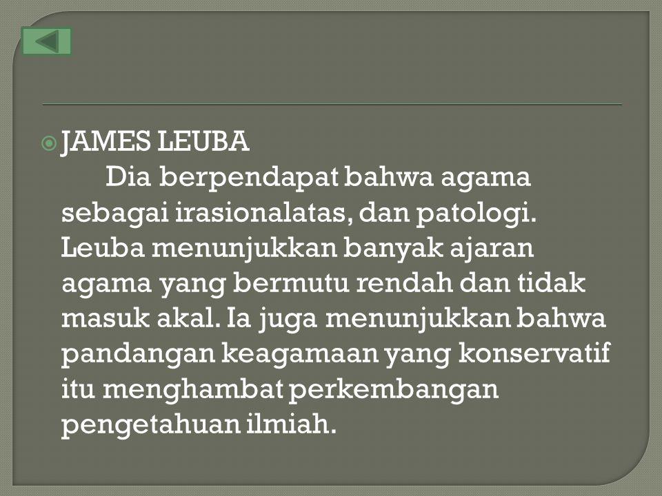 JAMES LEUBA