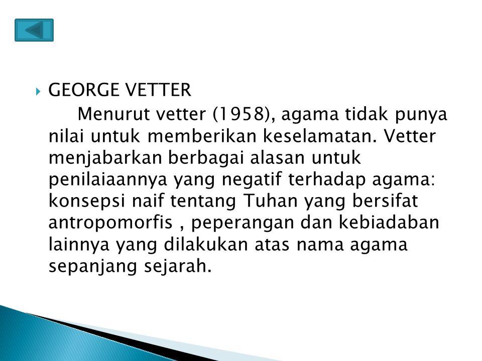 GEORGE VETTER