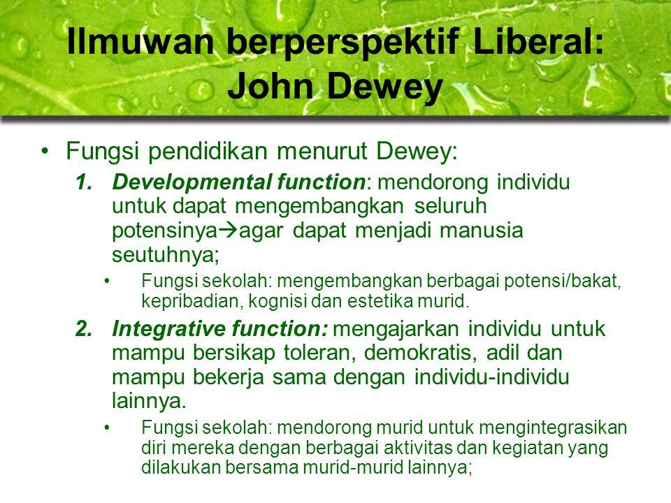 Ilmuwan berperspektif Liberal: John Dewey