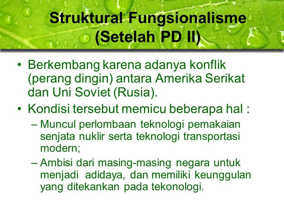 Struktural Fungsionalisme (Setelah PD II)