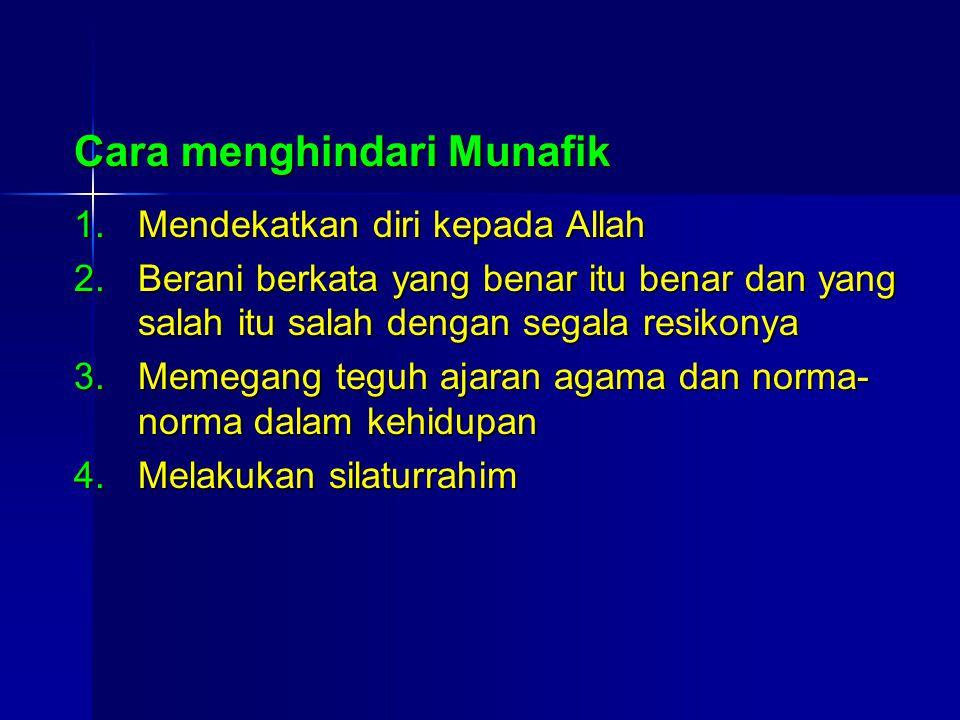 Cara menghindari Munafik