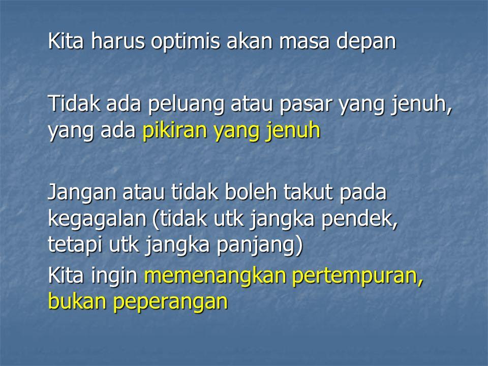 Kita harus optimis akan masa depan
