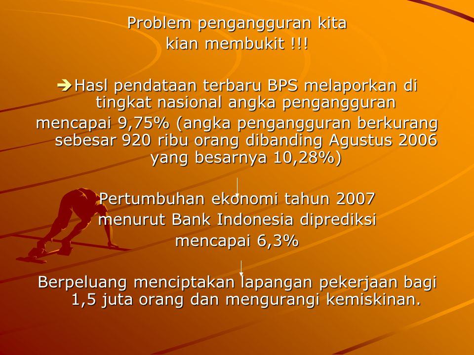 Problem pengangguran kita kian membukit !!!