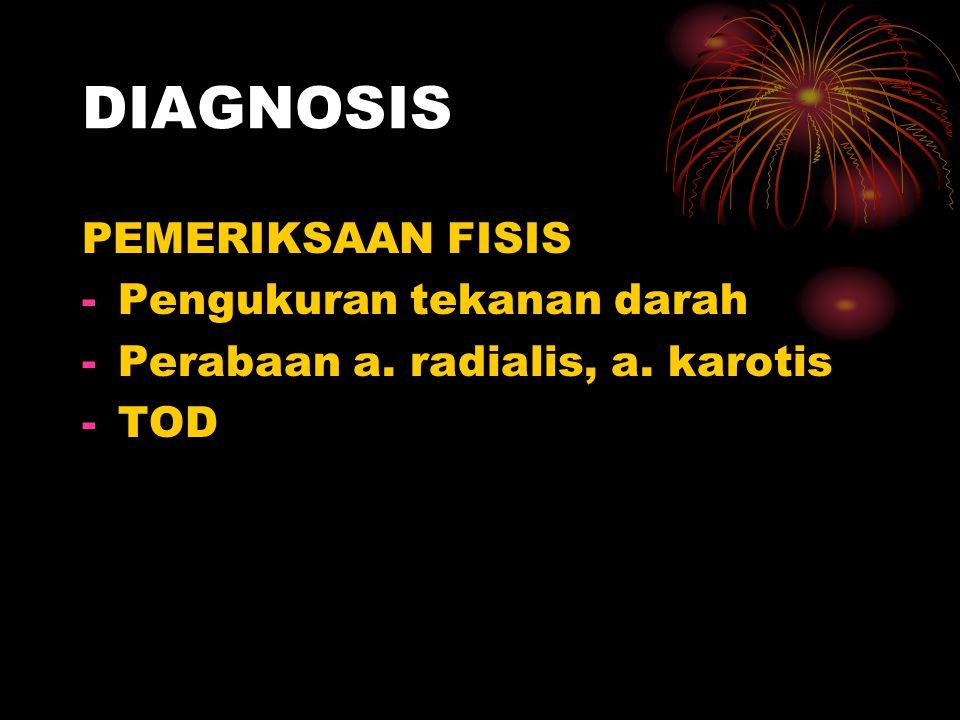 DIAGNOSIS PEMERIKSAAN FISIS Pengukuran tekanan darah