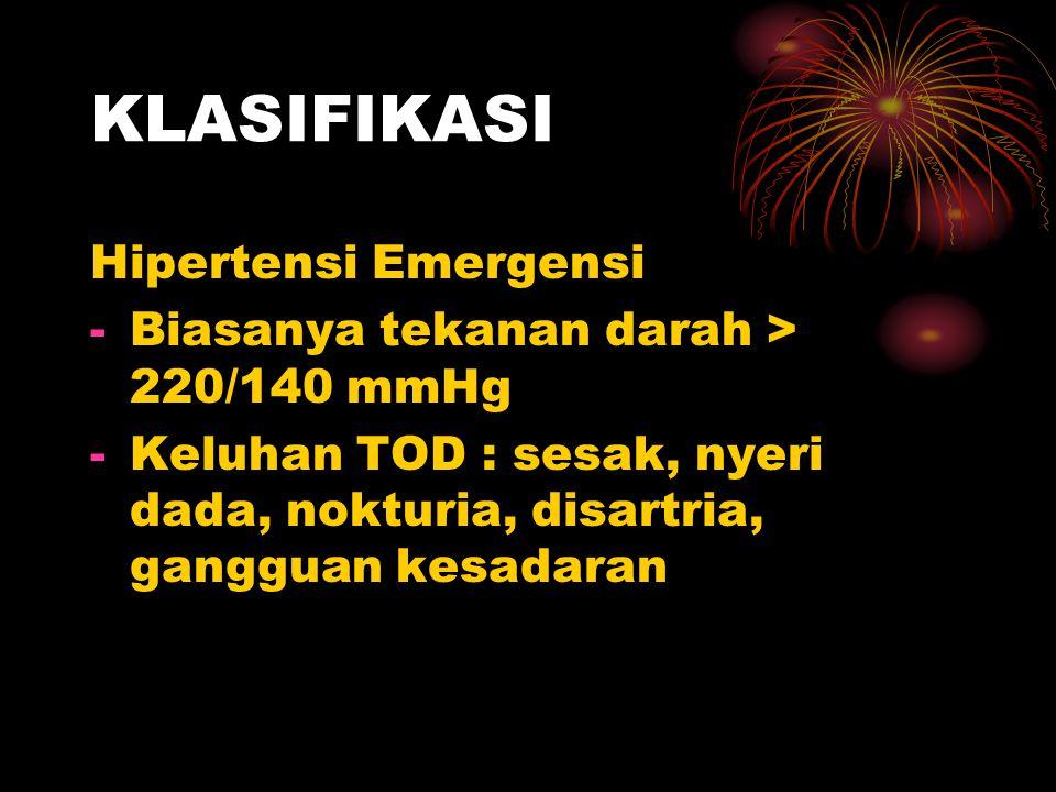 KLASIFIKASI Hipertensi Emergensi