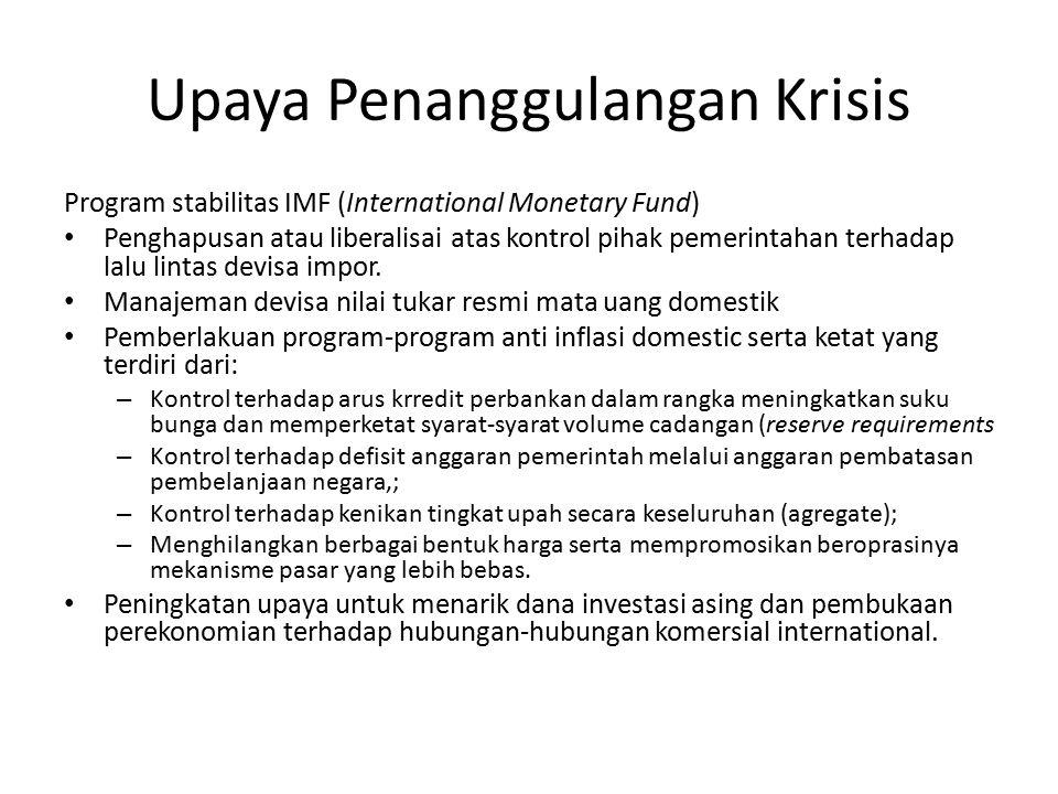 Upaya Penanggulangan Krisis