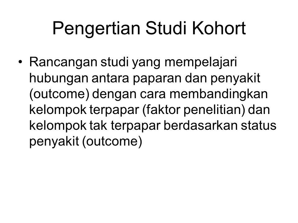 Pengertian Studi Kohort