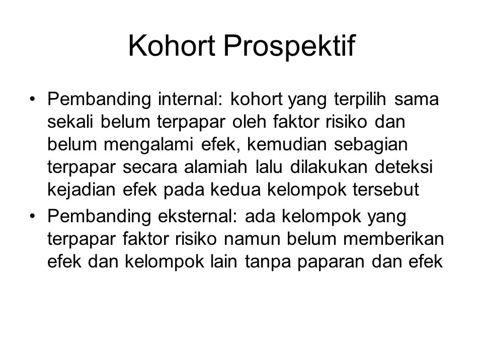 Kohort Prospektif