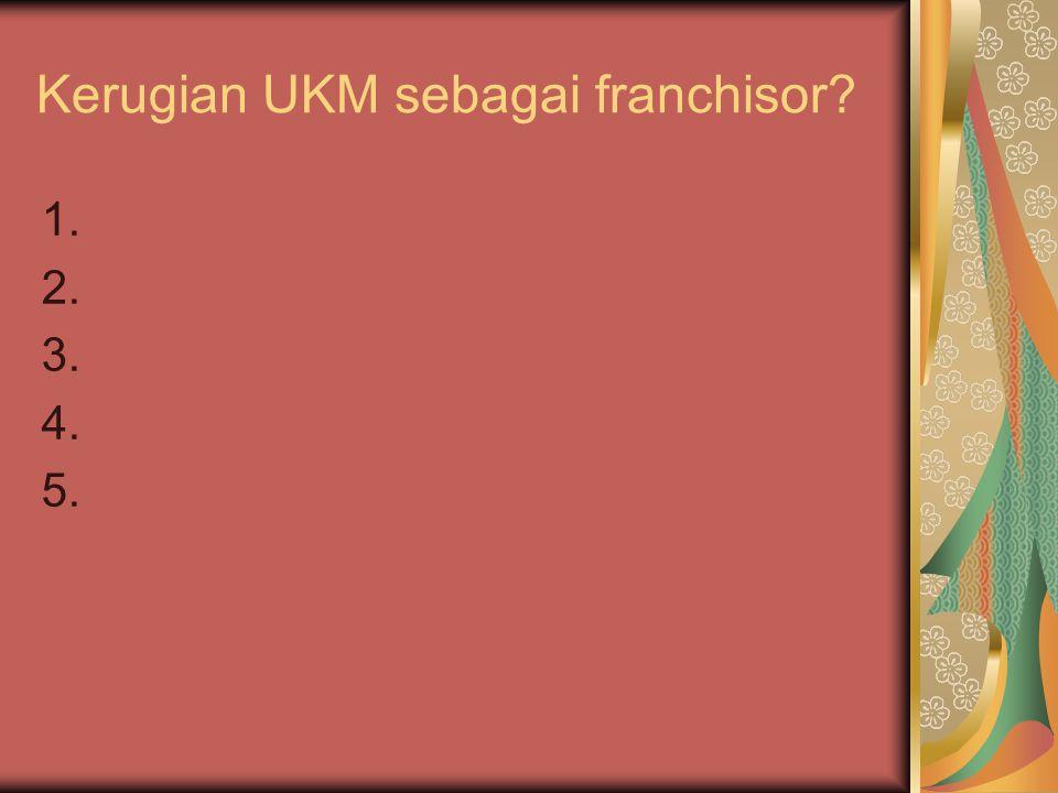 Kerugian UKM sebagai franchisor
