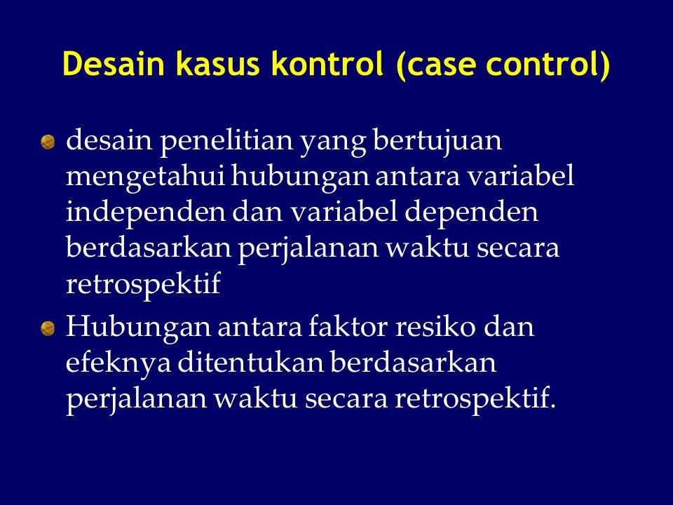 Desain kasus kontrol (case control)