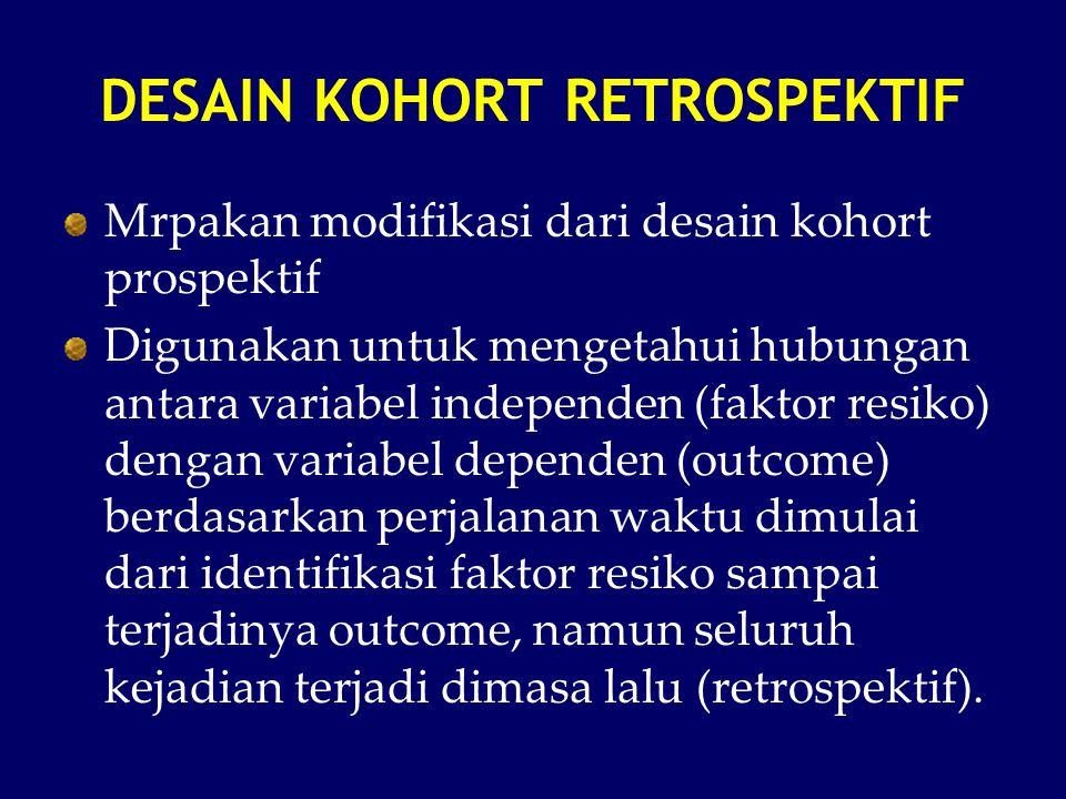 DESAIN KOHORT RETROSPEKTIF