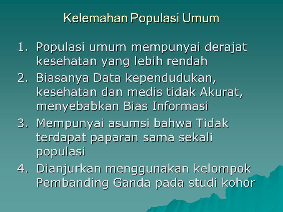 Kelemahan Populasi Umum