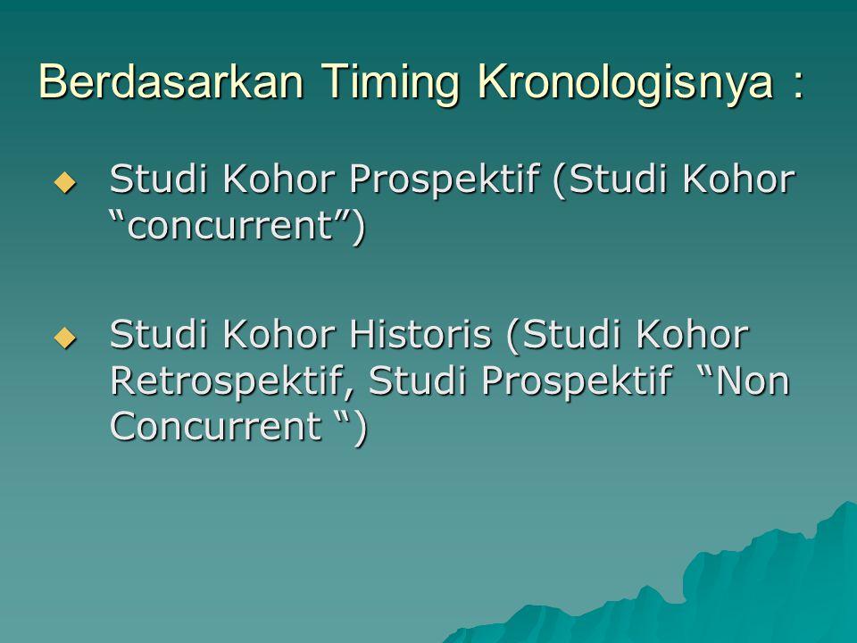 Berdasarkan Timing Kronologisnya :