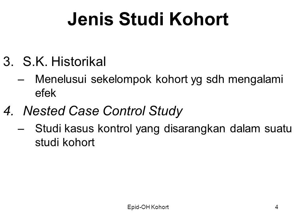 Jenis Studi Kohort S.K. Historikal Nested Case Control Study