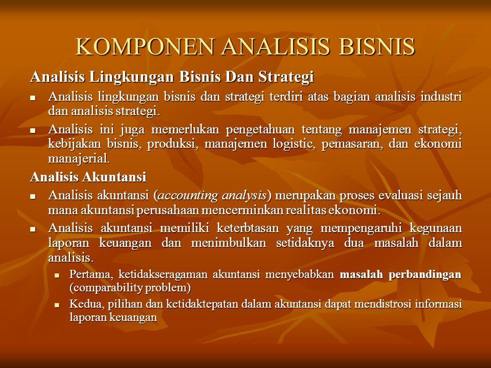 KOMPONEN ANALISIS BISNIS