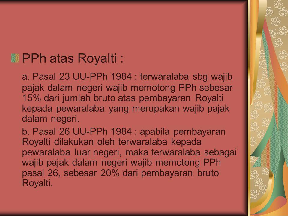 PPh atas Royalti :