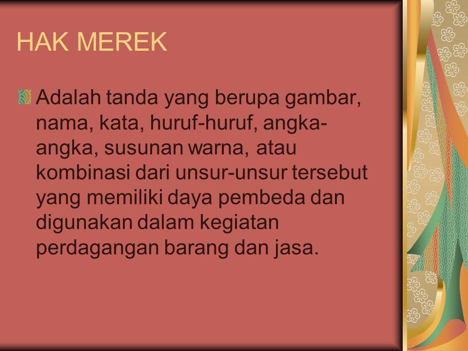 HAK MEREK