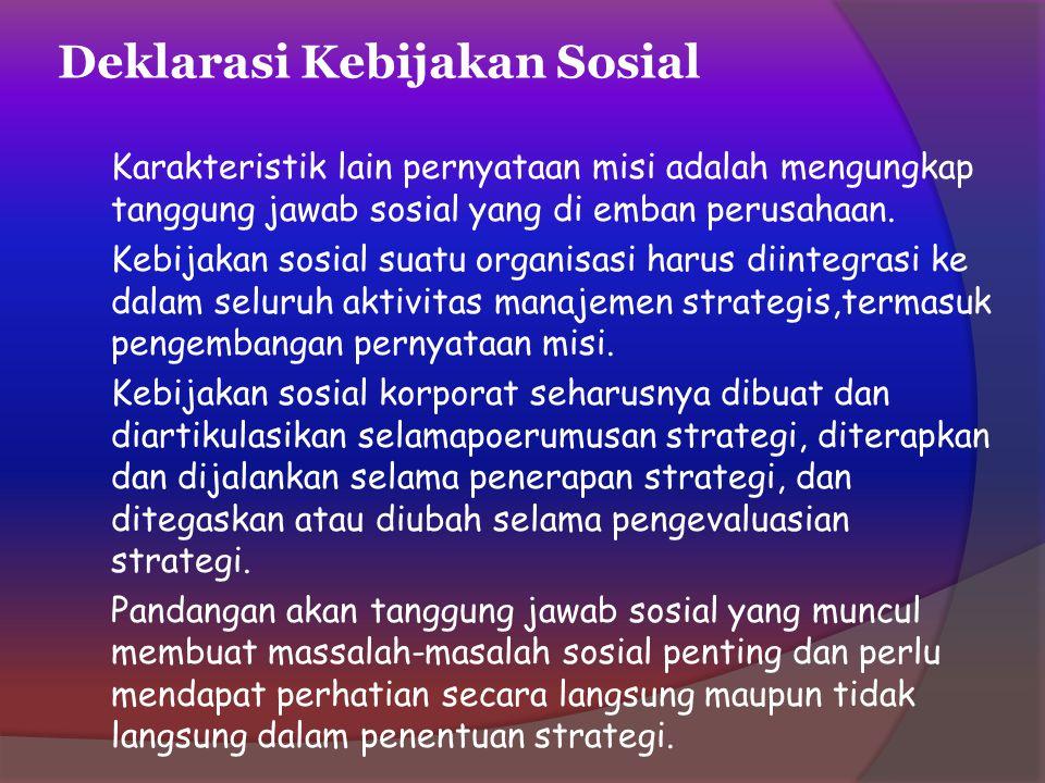 Deklarasi Kebijakan Sosial
