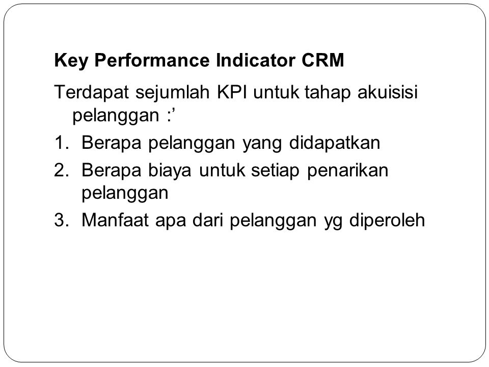 Key Performance Indicator CRM