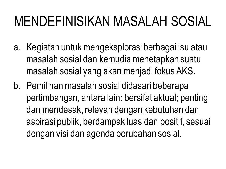 MENDEFINISIKAN MASALAH SOSIAL