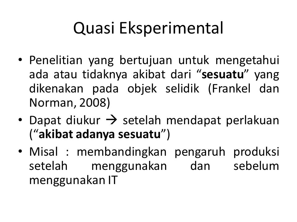 Quasi Eksperimental