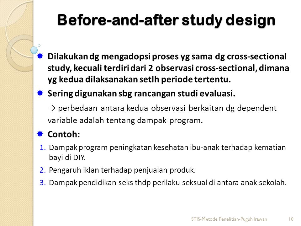 Before-and-after study design