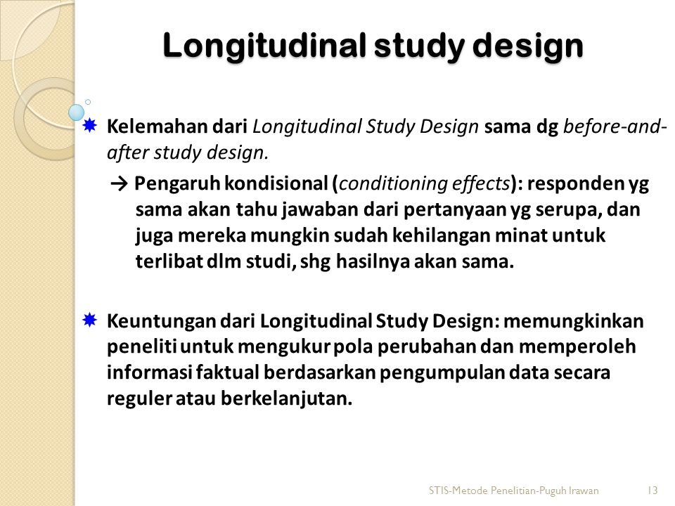 Longitudinal study design