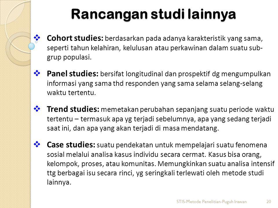 Rancangan studi lainnya