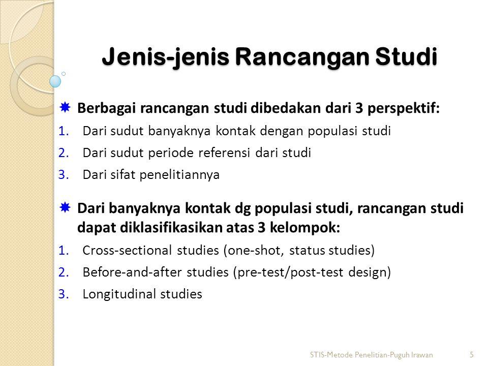 Jenis-jenis Rancangan Studi