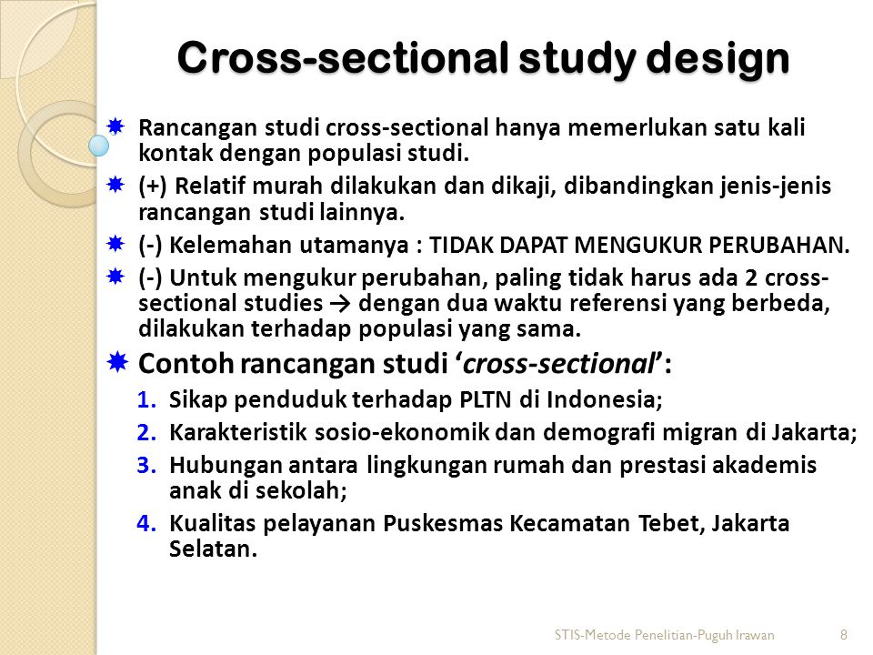Cross-sectional study design