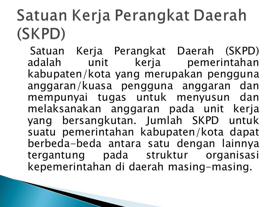 Satuan Kerja Perangkat Daerah (SKPD)