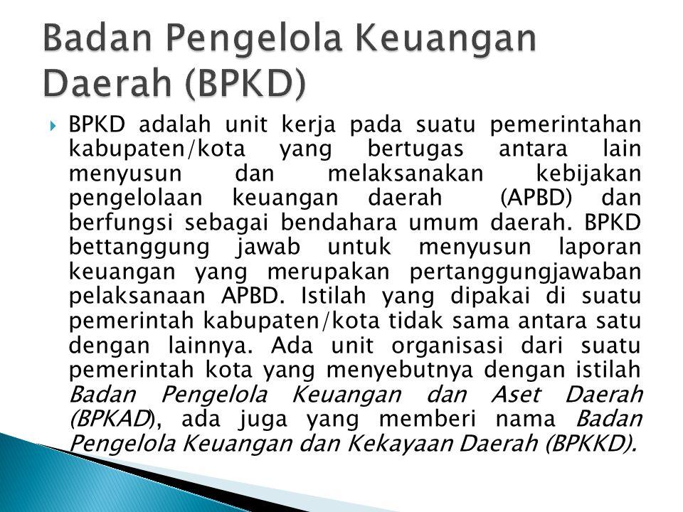 Badan Pengelola Keuangan Daerah (BPKD)
