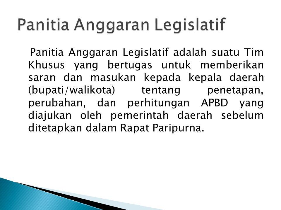 Panitia Anggaran Legislatif