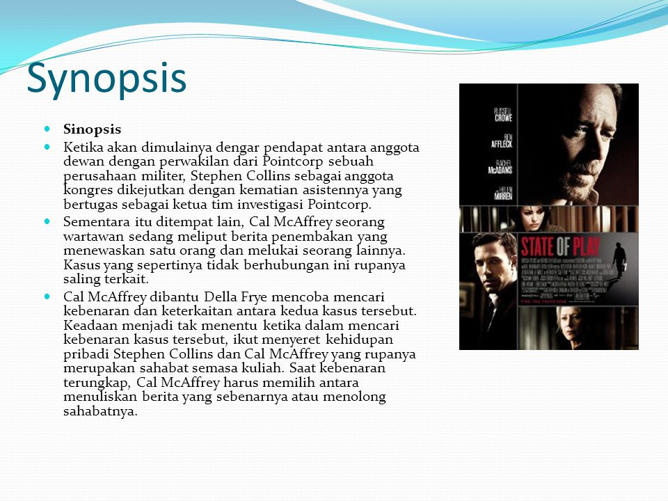 Synopsis Sinopsis.