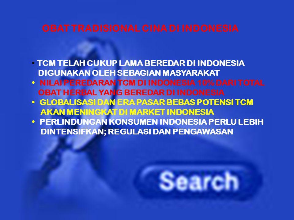 OBAT TRADISIONAL CINA DI INDONESIA
