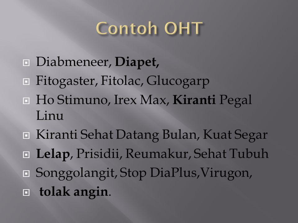 Contoh OHT Diabmeneer, Diapet, Fitogaster, Fitolac, Glucogarp